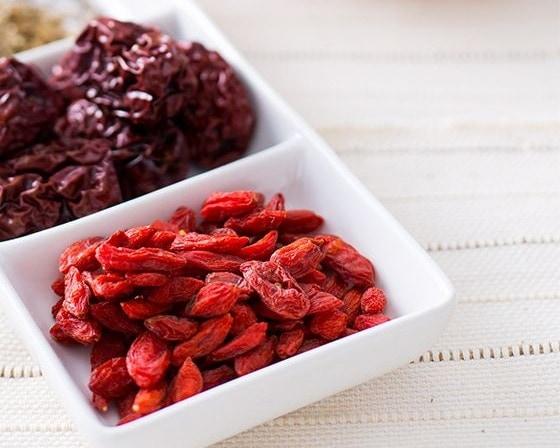 goji berry on plate 2