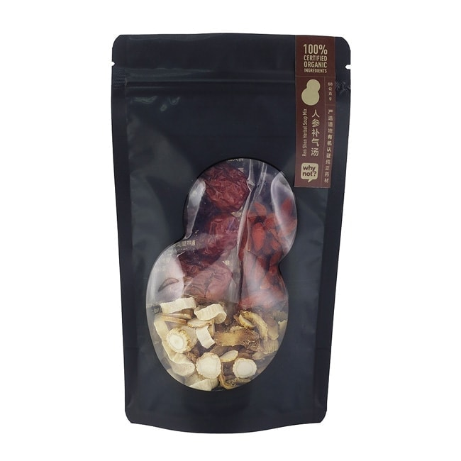 Why Not? Ren Shen Herbal Soup Mix 有机人参补气汤, 68g