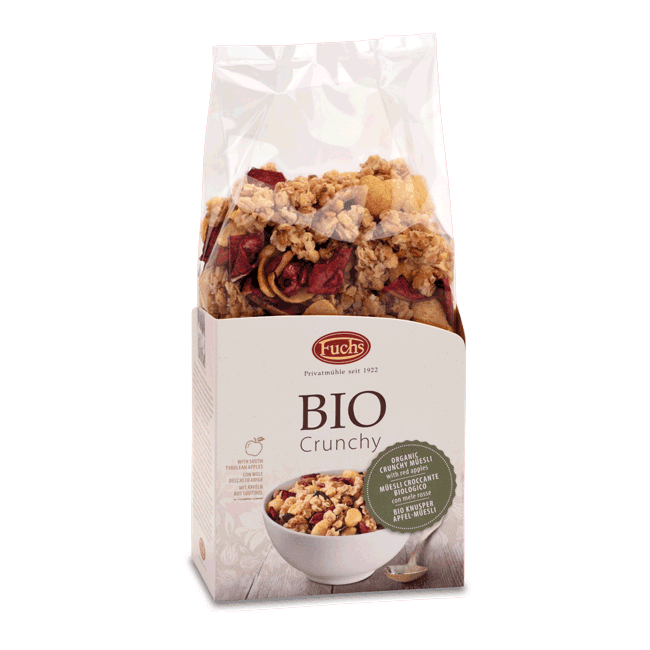 Fuchs Organic Crunchy Muesli with Red Apples 350g