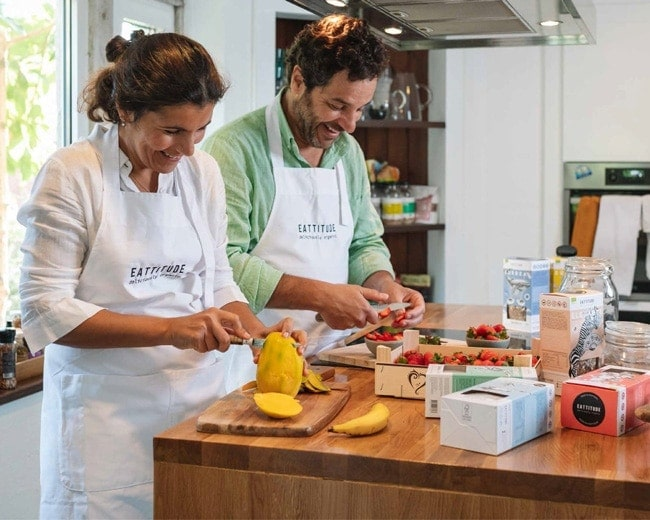 Eattitude founders Catarina and Tomas cooking 2