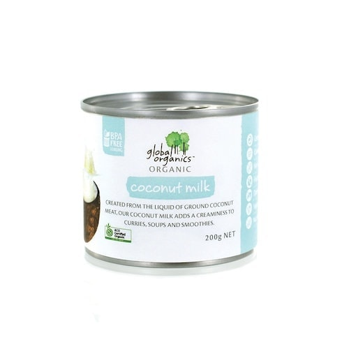 Global Org Coconut Milk Single 17% Fat, 200g