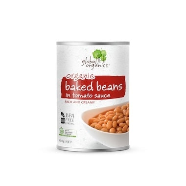 Global Organics Baked Beans in Tomato Sauce, 400g