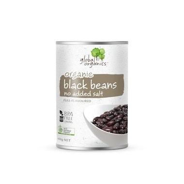 Global Organics Black Beans, 400g