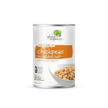 Global Organics Chick Peas No Added Salt, 400g