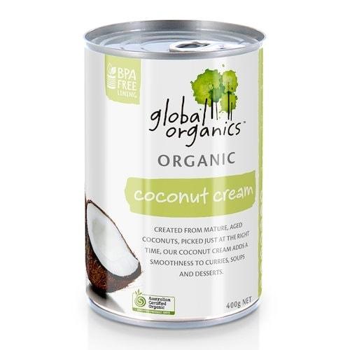 Global Organics Coconut Cream 22% Fat, 400g