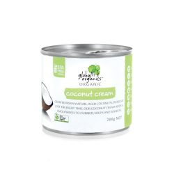 Global Organics Coconut Cream Single 22 Fat 200g