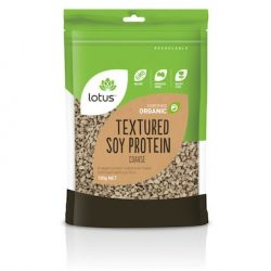 Lotus Textured Soy Protein TVP Coarse100g