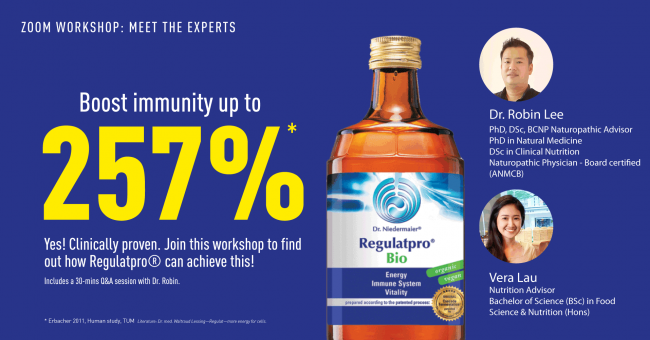Meet The Expert Workshop: Boost immunity up to 257%, find out how!