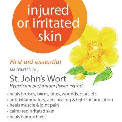 Injured or irritated skin