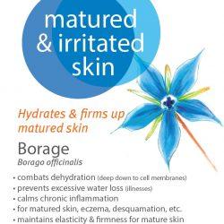 Matured and irritated skin