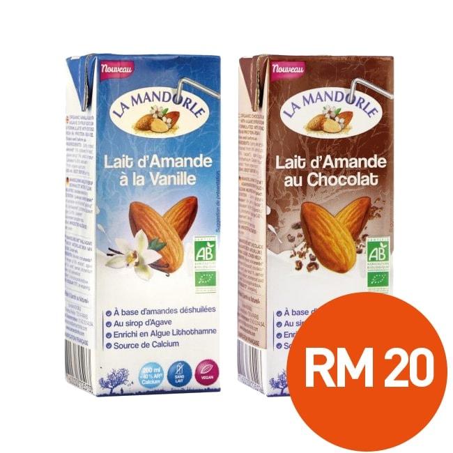 *BUY 2 @RM20* La Mandorle Almond Milk Chocolate + Vanilla, 200ml