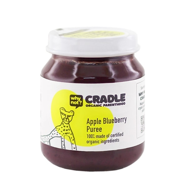 Why Not Cradle Apple Blueberry Puree, 130g