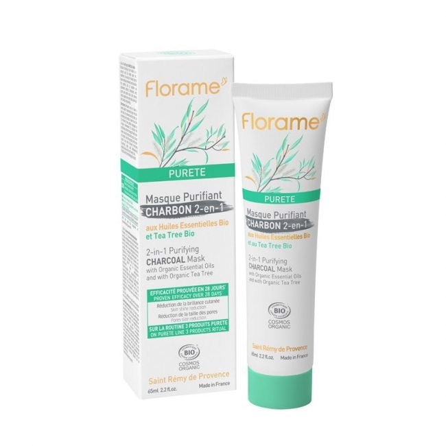 Florame 2-in-1 Purifying Charcoal Mask, 65ml