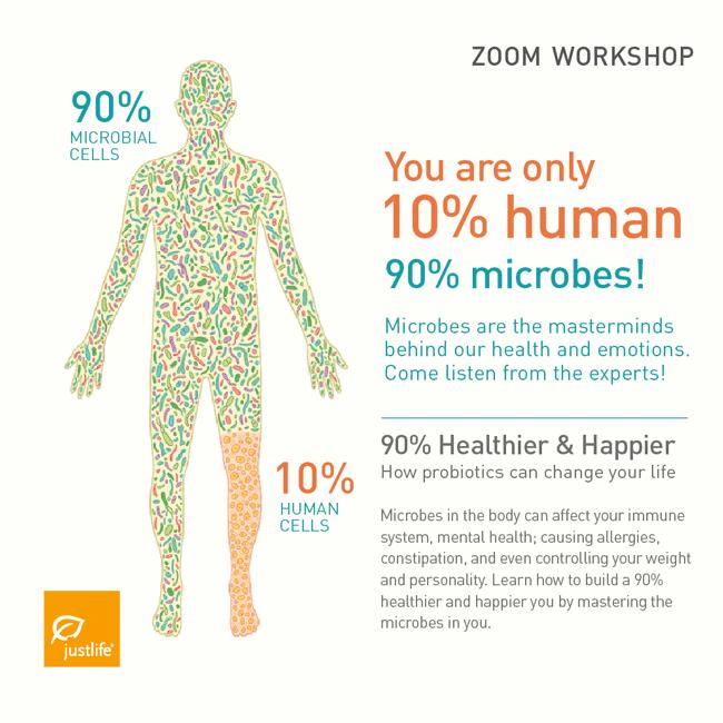 Free Zoom Workshop: 90% Healthier & Happier - How probiotics can change your life